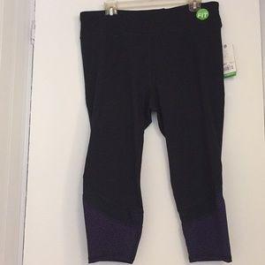 Gaiam yoga black pants 1X